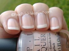 American Manicure = great natural wedding day nails