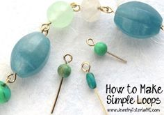 How to make simple wire loops  video tutorials. Great jewelry making instructions for beginners with tons of tips and troubleshooting techniques!    #jewelrymaking #diy #howto