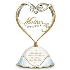 "Personalized Music Box For Mom with kids birthstones - inscribed with ""A Mother Holds Her Children's Hands for Just a Little While, but Holds Their Hearts Forever"".   $59.99"