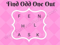 Brain Teaser to find Odd One Out