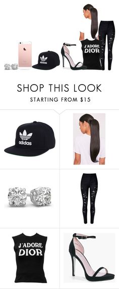 """Untitled #362"" by lilnasir ❤ liked on Polyvore featuring adidas, Christian Dior and Boohoo"