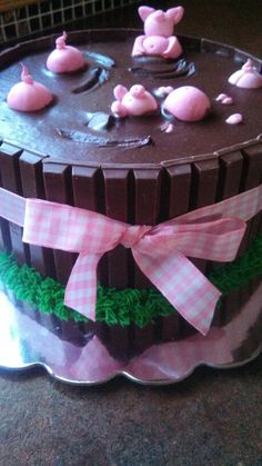 Little piggy cake #baby #shower #games