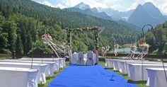 Deutschland ♥ Indien - eine internationale Hochzeit Summer Colors, Wedding Color Schemes, Fair Grounds, Patio, Outdoor Decor, Fun, Navy Blue, Colour, Indian