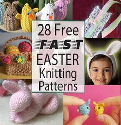 Free Last Minute Knitting Patterns for Easter - Easter treat holders, basket stuffers, egg stuffers, and more. Grab your remnant yarn for these quick free patterns you can finish before Easter. http://intheloopknitting.com/free-quick-easter-knitting-patterns/