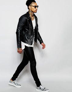 Sixth June Biker Jacket In Faux Leather. ASOS. Rock Style