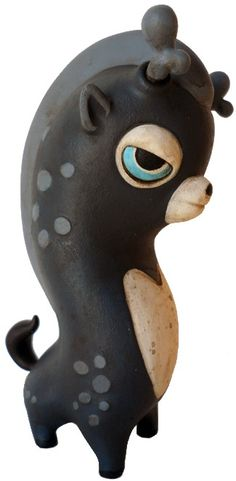 Dark Wippo Resin Toy collaboration by Teodoru Badiu & Circus Posterus available now at www.circusposterus.com
