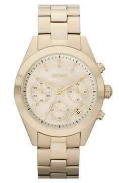 DKNY 'Street Smart Medium' Round Bracelet Watch