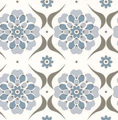 Flower Swirl  Blue Hue wallpaper by Layla Faye