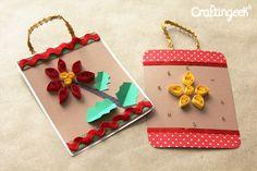 Tarjetas para navidad: Filigrana // Quilling card