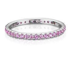 Pink Sapphire Eternity Ring in 18k White Gold #BlueNile