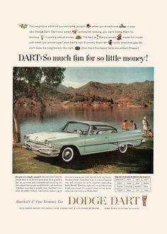 1960 DODGE DART AD Classic Car Ad Dodge by EncorePrintSociety