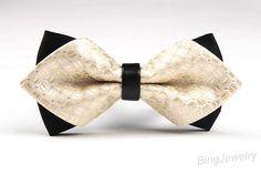 Wedding Men Bow Ties Mens Bowties Men's Double Bow by BingJewelry