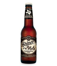 Cerveja Shiner FM 966, estilo Saison / Farmhouse, produzida por Spoetzl Brewery, Estados Unidos. 5.7% ABV de álcool.