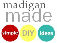 Madigan Made { simple DIY ideas }: DIY Furniture Update: How to Tile a Table with Glass Gems
