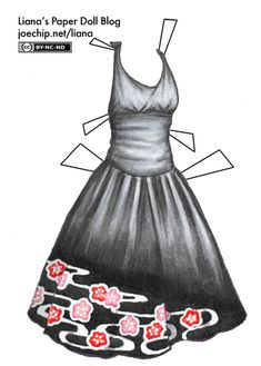 bonus-black-halter-dress-with-pink-and-red-flower-pattern-tabbed