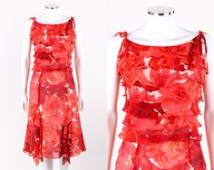 Awesome Great ESCADA 2 Pc Red Floral Print Silk Chiffon Tiered Ruffle Top Skirt Dress Set 38  2017-2018 Check more at http://24shopping.cf/my-desires/great-escada-2-pc-red-floral-print-silk-chiffon-tiered-ruffle-top-skirt-dress-set-38-2017-2018/