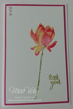 Thank You Cards Stamp Set - Lotus Blossom Technique - 3-Step Stampin' SAB 2015 Stampin' Up!