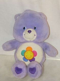 """13"""" Care Bears Talking Harmony Bear Purple Lavender Works Great Excellent 2003"""
