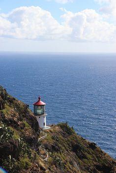 Beautiful lighthouse on Ka'iwi. Oahu