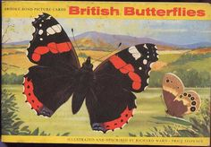 Brooke Bond Tea Cards British Butterflies Paper by Piefingers Ladybird Books, Collector Cards, Butterfly Crafts, Picture Cards, My Memory, Scrapbook Supplies, Vintage Books, Childhood Memories, Watercolor Paintings
