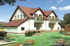 Proiecte de case duplex - costuri taiate in doua - Case practice Design Case, Home Fashion, Cabin, Mansions, House Styles, Home Decor, City, Decoration Home, Manor Houses