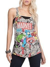 684c951db1354 Marvel The Avengers Girls Tank Top. hot topic also comes in black and white.
