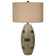 Pacific Coast Lighting National Geographic Dar Es Salaam Table Lamp in Charcoal