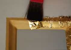 How to paint with gold leaf. (I'm assuming it would be the same with silver leaf...)