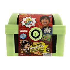 Ryan's World Cap'n Ryan's Glow-In-The-Dark Mega Mystery Treasure Chest (Target Exclusive) Green Power Ranger, Ryan Toys, Disney Cars Toys, Pirate Coins, 5th Birthday Party Ideas, Secret Compartment, Disney Frozen Elsa, Pirate Theme, Treasure Chest