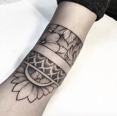 Dotwork floral armbands by Lawrence Edwards