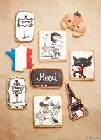 """La Petite Mort"", un set de galletitas de temática francesa.  «La Petite Mort"", a France-themed cookie set."