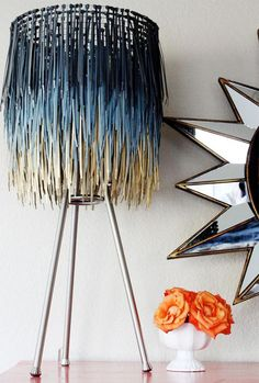 DIY upcycled zip tie lampshade - Charming Ink - Charming Ink