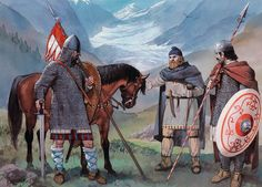 Northern Italy, 11th century • Cavalryman, mid-11th century  • Rural militiaman  • Urban militia infantryman