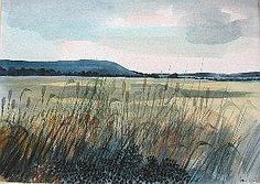 Robert Tavener century British) watercolour, Sussex landscape with corn and poppies, signed, 29 x Landscape Art, Landscape Paintings, Book Cover Page, Pen And Wash, Art Watercolour, View Image, Printmaking, Poppies, United Kingdom