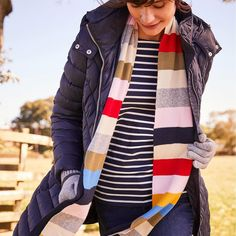 Flurrywell Knitted Scarf Womens Scarves, Plaid Scarf, Vest, Warm, Jackets, Style, Fashion, Down Jackets, Swag