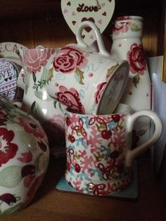 Emma Bridgewater Studio Special Coral & Cherries Pint Mug for Collectors Day 2014 Cute Kitchen, Kitchen Stuff, Mulberry Jam, All About The Tea, Emma Bridgewater Pottery, Farms Living, Small Farm, Cozy Cottage, Mugs