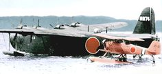 "Japanese Kawanishi ""Emily"" Navy flying boat used for maritime patrol duties. Amphibious Aircraft, Navy Aircraft, Ww2 Aircraft, Fighter Aircraft, Military Aircraft, Bomber Plane, Imperial Japanese Navy, Pearl Harbor Attack, Flying Boat"