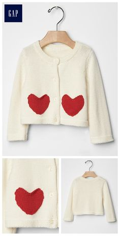 Heart pocket cardigan