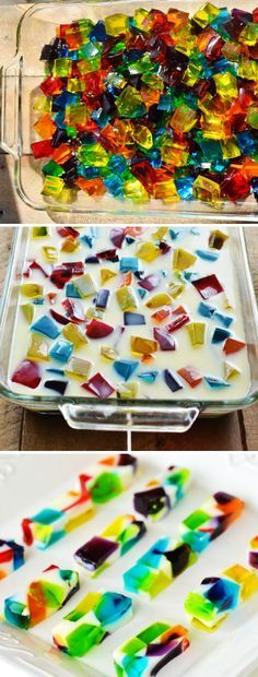 Jell-o Colorful Cubes