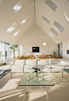 Modern Living Room by Jacobsen Architecture and Jacobsen Architecture in Maine