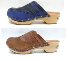 Lucky Brand LILAC Embellished Boho Chic Oiled Suede clogs 6.5 7 7.5 8.5 NEW #LuckyBrand #clogs #caual