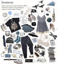 Brumous gray blue aesthetic<< I have a new favorite word. This just describe my aesthetic 90s Fashion, Fashion Outfits, Fashion Tips, Fashion Skirts, Classy Fashion, Grunge Fashion, Korean Fashion, Spring Fashion, Aesthetic Fashion