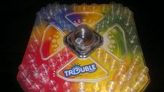 Trouble Drinking Game We've all played the game trouble! You know, the game with the dice in a bubble on the game board? The rules go as follows: 1 Drink everytime: - You get jumped - You can't play - Every time one of your pieces reaches safe Drink the number on the dice when: - You get a six - While waiting to get out of home