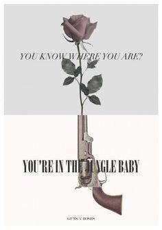 Welcome to the jungle - guns n roses Music Love, Music Is Life, Good Music, Papa Roach, Axl Rose, Tatuagem Guns N Roses, Hard Rock, Roses Lyrics, El Rock And Roll