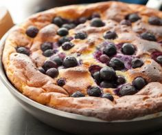 A light and lemony puffed omelette studded with juicy blueberries makes an excellent change of pace for breakfast.