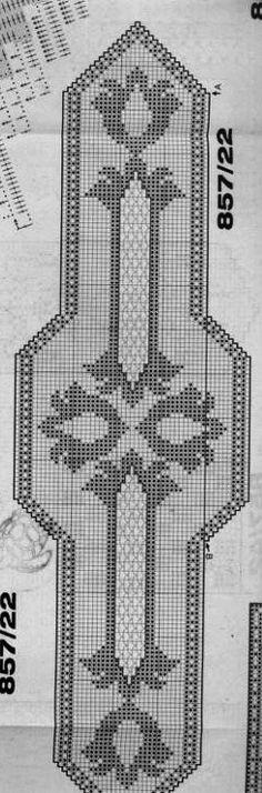 Filet Crochet Charts, Tunisian Crochet, Crochet Stitches, Crochet Patterns, Crochet Doilies, Crochet Lace, Stitch 2, Cross Stitch, Tablecloth