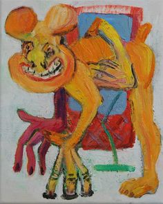 Rob McLeod Desperate Dog , 2014 Oil on canvas 250 x 200 mm [Private collection]… Artwork Images, Paintings For Sale, Doge, New Zealand, Street Art, Moose Art, Art Gallery, Comics, Animals