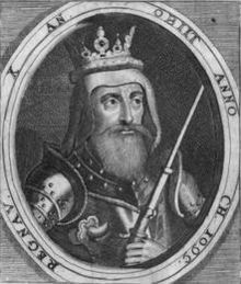 Olaf I of Denmark (1050 - 1095). King of Denmark from 1086 until 1095, when he died. He was married to Ingegerd of Norway and had one daughter who died young. His death may have been a suicide or he may have been sacrificed to bring better luck to Denmark.