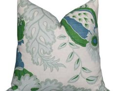 Christopher Farr Carnival Pillow Cover in Green
