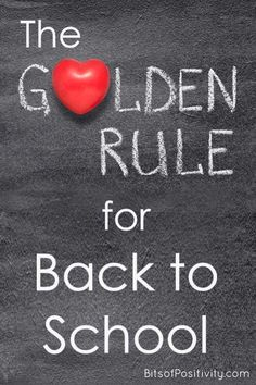 The Golden Rule for back to school . resources and inspiration to prevent bullying and encourage kindness - Bits of Positivity Bullying Prevention, Character Education, Anti Bullying, Golden Rule, School Resources, Word Art, Back To School, Homeschool, Encouragement